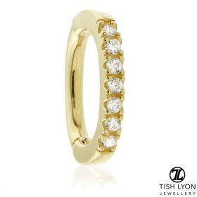 TL - Gold Pavé Jewelled Oval Rook Ring