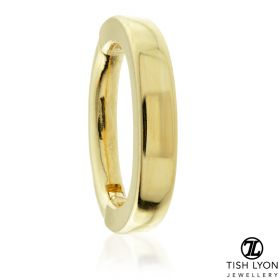 TL - Gold Hinged Oval Rook Ring