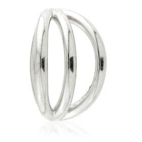 TL - Silver Triple Band Hinge Ring