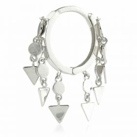 TL - Silver Hanging Triangle Chains Hinge Ring