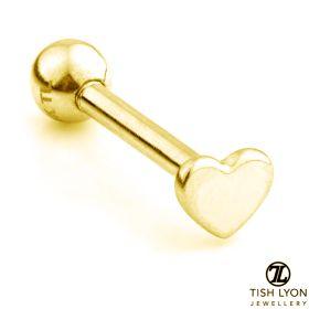 TL - Gold Heart Cartilage Bar