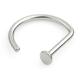 Titanium Open D Nose Ring