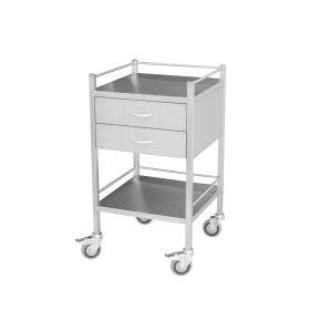 Steel Medical Trolley - 2 Draw