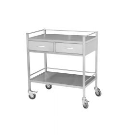Steel Medical Trolley - Large Double Draw