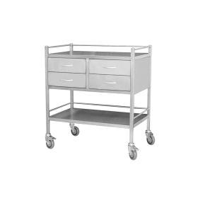 Steel Medical Trolley - Large 4 Draw