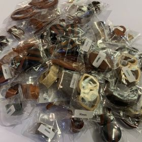 Wooden Tunnels and Plugs Mixed bag approx. 45 pairs