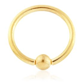Yellow Gold Ti BCR with Titanium Ball 1.2mm