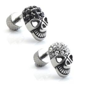 SALE Skull Ear Stud - Multi Gem